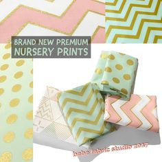 Blushy pinks, pastel mints, and lovely gold-accented geometric designs... This designer collection fits right in. These premium apparel-grade prints are so soft and perfect for your sewing projects. Ask about bulk discounts! #bebefabricstudio