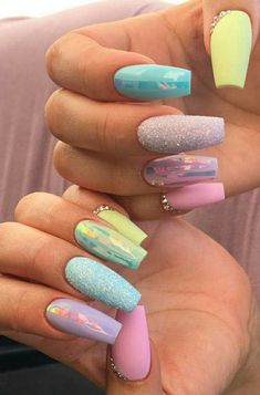 15 Easter Nails We& Obsessing Over Nail Art Designs, Acrylic Nail Designs, Nails Design, Trendy Nail Art, Stylish Nails, Perfect Nails, Gorgeous Nails, Fire Nails, Easter Nails