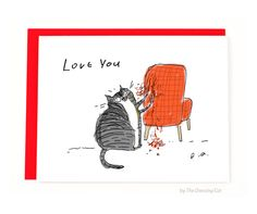 Funny Valentines Card  Chair Rip  Love You  Funny by jamieshelman