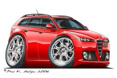 Gallery - Category: ALFA ROMEO Suzuki Motocross, Alfa 159, Garage Art, Car Sketch, Automotive Art, Car Brands, Car Humor, Vw Bus, Alfa Romeo