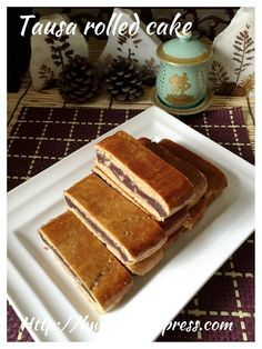 Red Bean Paste Rolled Cake (豆沙排饼)#guaishushu #kenneth_goh      #tausa_rolled_cake  #豆沙排饼