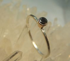 Black Diamond Ring - Made To Order. $84.00, via Etsy.