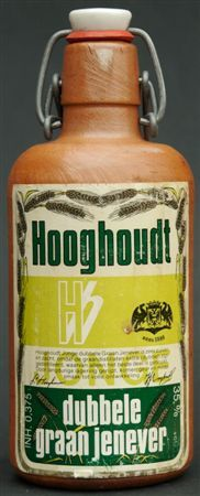 Jenever. Hooghoudt distillery founded in 1888 by the associate many the city of Groningen with Juniper.Originally it is malt wine to which extracts from the Juniper were added
