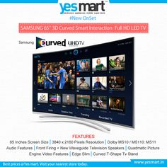 Get ready to Experience the next level of images, more life like than ever before by #Samsung 65-inch H8000 Curved #TV with amazing modern features. Available with great challenging price @Yesmart.  Visit your nearest #Yesmart store today.