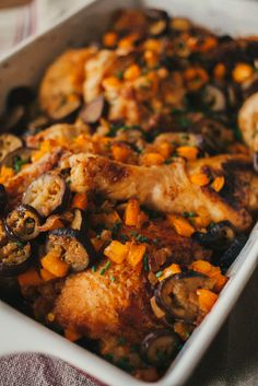 Miso-Smothered Chicken & Eggplant Bake