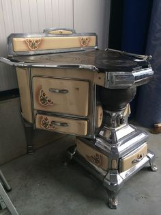 Victorian House Like This Page · 15 hrs · An Unusual Art Nouveau Cast Nickel & Porcelain Stove, from France (Circa