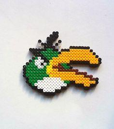 Boomerang Bird Angry Birds Perler Bead Sprite