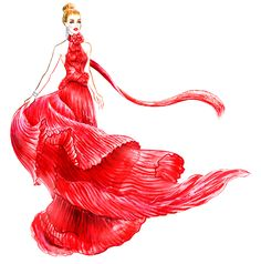 Red Carpet - Cannes Film Festival - Marchesa - Illustration by Sunny Gu