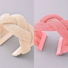 Mesh Bracelet Perfect accessory for spring! Available in pink and Ivory Jewelry Bracelets