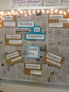 ELA Common Core Bulletin Board + Expanding my Blog! | Pencils and Pancakes