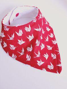 Dribble Bibs, Bandana Bib, Baby Bibs, Origami, Bamboo, My Etsy Shop, Trending Outfits, Handmade Gifts, Red