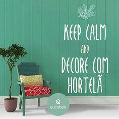 Não sabe que cor usar em seu ambiente? Siga a tendência eleita para 2016 da Eucatex! Ideal para qualquer ambiente o #Hortelã é a cor que dará um up em seu lar!  #Cor2016Eucatex #EColors #TintasEucatex