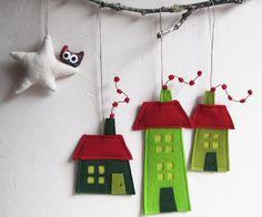 手作り北欧フェルトクリスマス飾り画像
