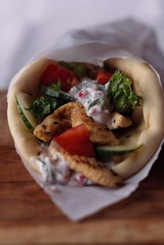 Marinated Chicken Gyro Wraps — Jamie and Bobby Deen — Recipes, Blogs, Podcast and Videos