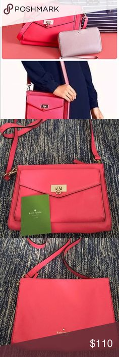 """Kate spade abbet terrace drive in strawberry froyo New without tags. 9.85x7x1.2, strap drop 20"""" kate spade Bags Crossbody Bags"""