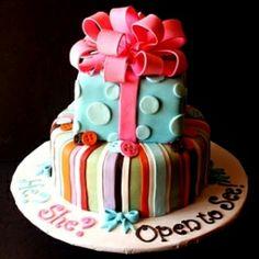 Baby Gender Revealing Cake