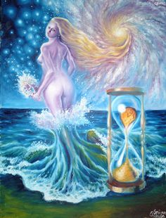 The waves of time, oil on canvas painting The waves of time Branding Design, Logo Design, Fantasy Series, Home Deco, Tinkerbell, Oil On Canvas, Disney Characters, Fictional Characters, Images