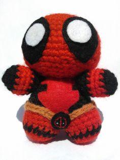 Amigurumi Crochet Dress Pattern : Deadpool Marvel Comics Crochet Amigurumi Doll by ...
