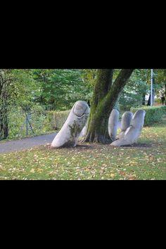 'The Caring Hand' Glarus in Switzerland