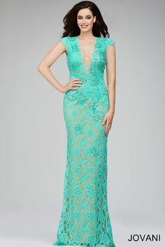 Fitted lace long dress 98026