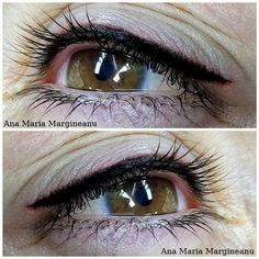 Permanent Makeup Eyeliner before and after / Eyeliner nature / Eyeliner Tattooing / Permanent Makeup / Ana Maria Margineanu