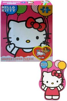 Hello Kitty Floor Puzzle by Hello Kitty. $10.07. 46 piece puzzle. Larger images make for easier assembly. Larger pieces are easily manipulated. Features popular characters. From the Manufacturer                Turn your floor into a work of art with Cardinals Licensed Floor Puzzles. A fun way to create and bring Hello Kitty into any room.                                    Product Description                Includes (1) themed floor puzzle that has 50 interlocking pieces...