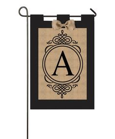 Another great find on #zulily! Small Monogram Burlap Outdoor Flag #zulilyfinds