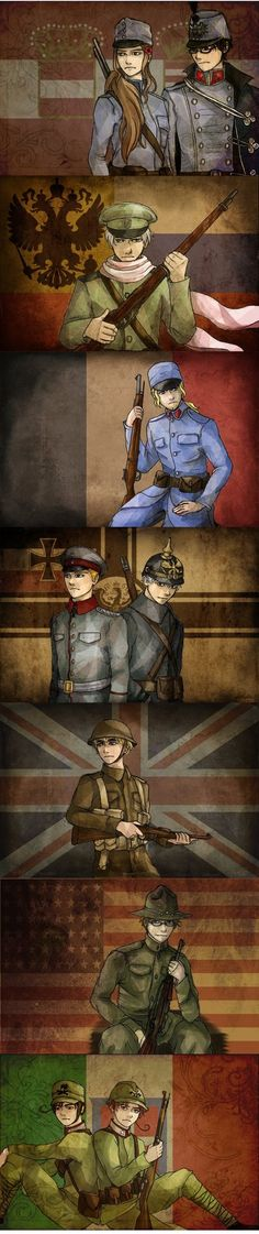 Major powers on both sides fromWW1