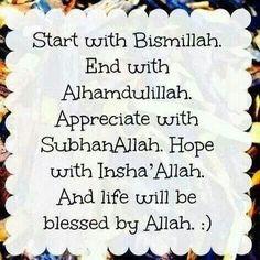 start with bismillah