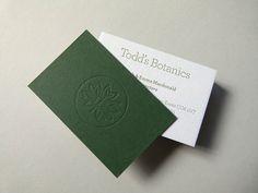 Letterpress business cards printed & debossed onto 810gsm Colorplan Duplex card stock (2) by typoretum, via Flickr