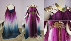 Beautiful costume dress made by Firefly Path - Inspired by Game of Thrones Daenerys Targaryen and Princess Zelda