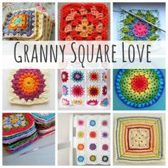 Granny Square Colors and Patterns, links to all of them, all free, all delightful: thanks so for sharing xox