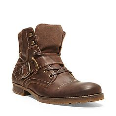 GIVINN BROWN LEATHER men's boot casual zipper - Steve Madden (check out the black ones too. those looks cool).
