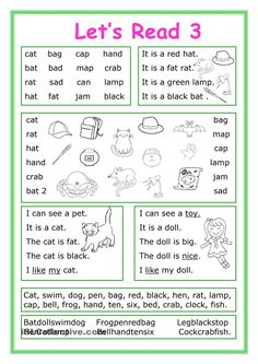 This worksheet is for Elementary school students at Beginner level who learn reading and their vocabulary is not too big. The worksheet is good for developing Reading and Writing skills.There exercises with short Phonics Reading, Reading Comprehension Worksheets, Teaching Phonics, Reading Passages, Kindergarten Reading, Kids Reading, Reading Skills, Teaching Reading, Writing Skills