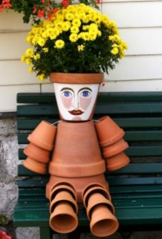 Terra-cotta pot crafts | ... garden. This is a guide about crafts using terra cotta flower pots