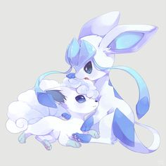 Glaceon and Alolan Vulpix