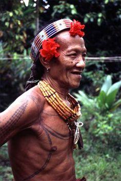 Indonesia | Mentawai man. Siberut island. Sumatra. |  ©photographer unknown, via Asmat Travel user gallery.