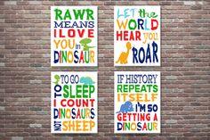 Dinosaur DecorDinosaur Wall ArtDinosaur by CottageArtShoppe