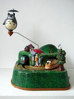wind-up tin totoro music box