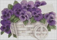 Carrito de violetas