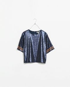 ZARA - NEW THIS WEEK - SHINY T-SHIRT
