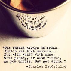 bluoceanwithpolkadots: Get drunk.