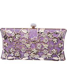 Clutch metalizado floral -Violeta EUR27.89
