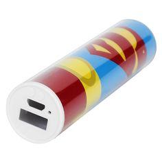 Powerbank dedicata a #Superman. La vostra ancora di salvezza per ricaricare lo smartphone. 2600mAh.