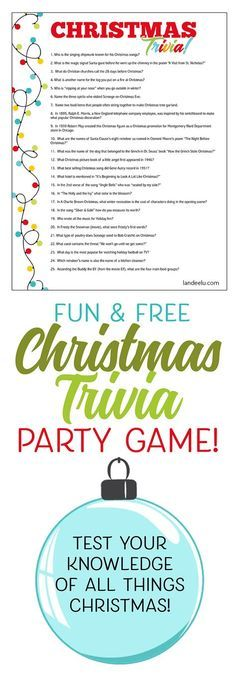 20 party games for the christmas holidays holidays christmas christmas trivia game perfect for christmas parties printable fun trivia solutioingenieria Image collections