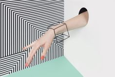 Rings – Squared Away Bracelet / Handmade in Hypoallergenic Surgical Stainless Steel with a matte black finish – a unique product by hoministudio via en.DaWanda.com
