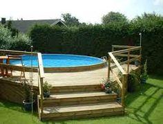 intex frame pool in erde einlassen garten deko pinterest schwimmb der poolverkleidung und. Black Bedroom Furniture Sets. Home Design Ideas