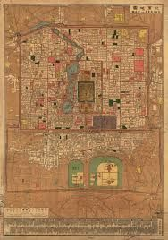 This is a city map of beijing. Only about 6% of people under the qing dynasty lived in cities