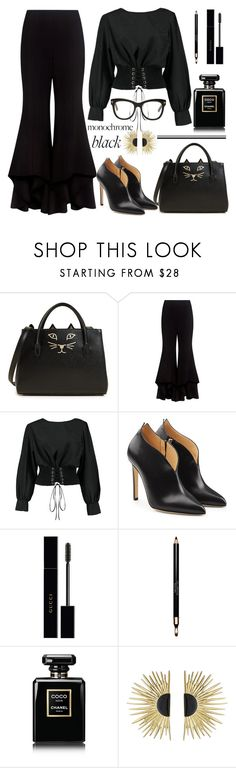 """Untitled #939"" by m-jelic ❤ liked on Polyvore featuring Charlotte Olympia, Alexis, Boohoo, Chloe Gosselin, Gucci, Clarins, Chanel, Aurélie Bidermann and Tom Ford"
