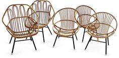 One Kings Lane - Michael Kucmeroski - 1960s Bamboo Garden Chairs, Set of 5. 999usd.